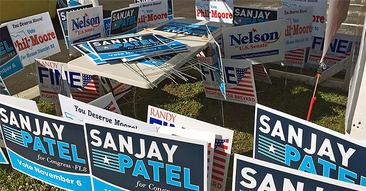 Unclaimed Political Campaign Signs