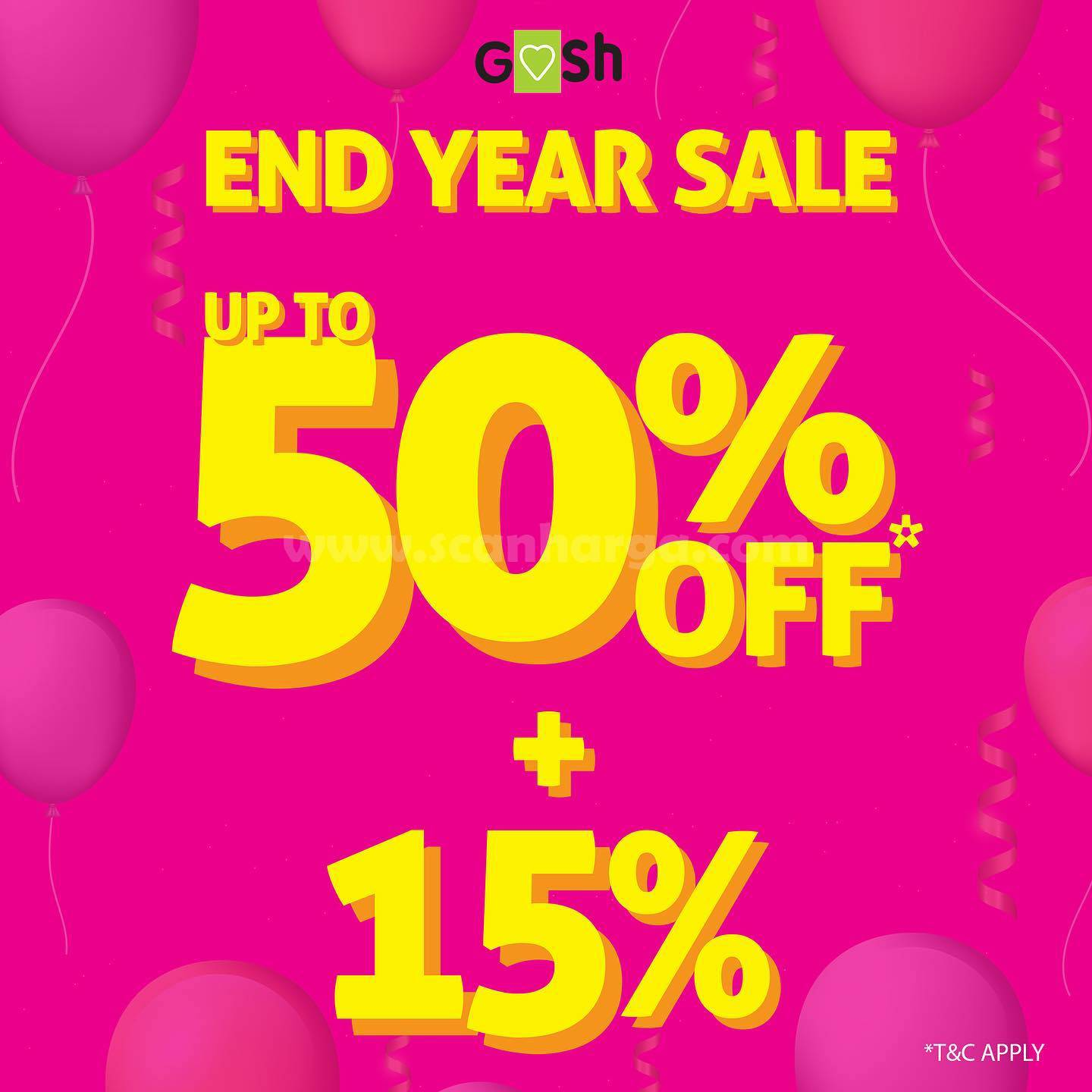 Gosh Shoes End Year SALE Promo Disc. Up To 50% + 15% Off