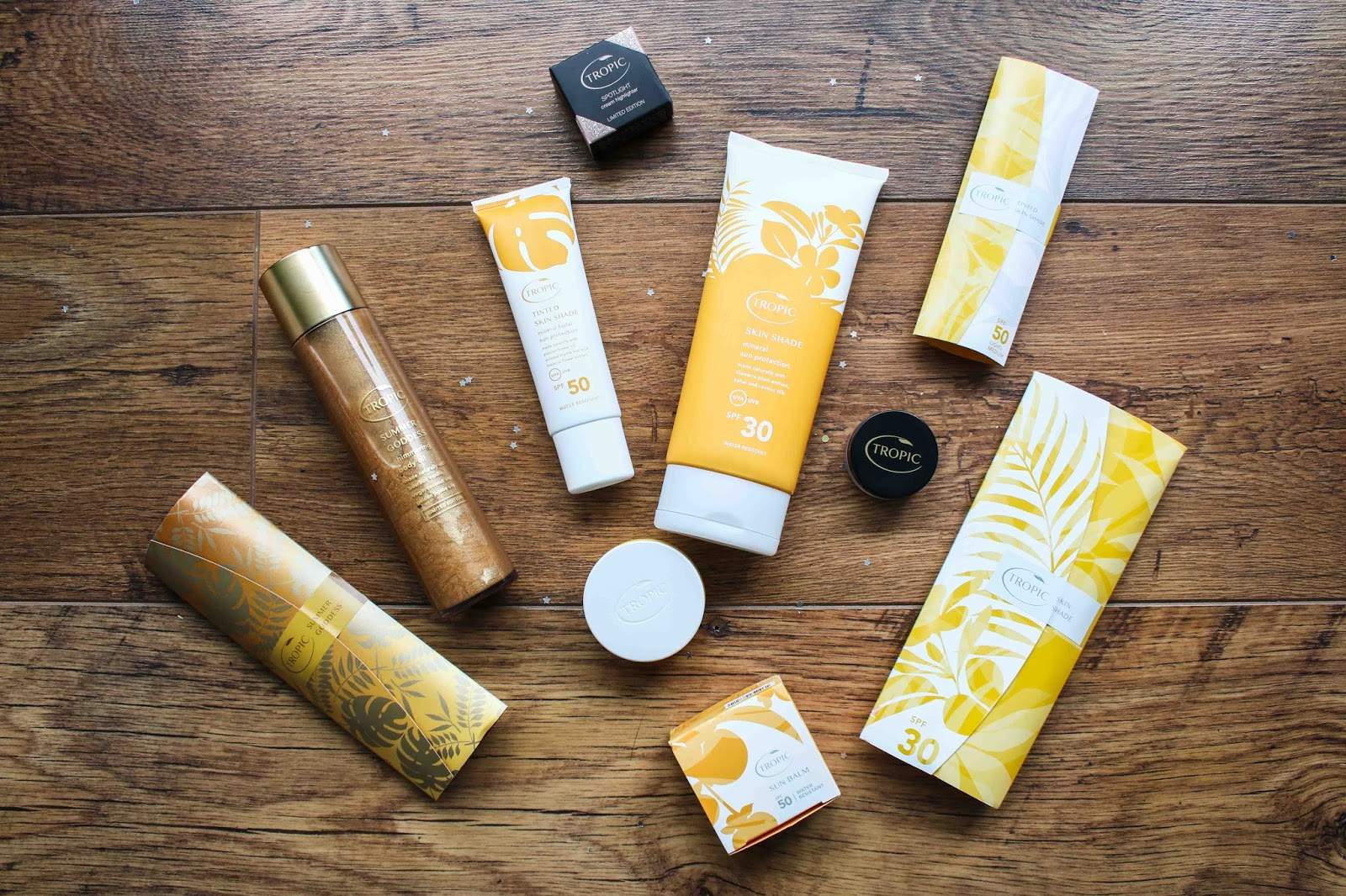 Tropic skincare sunscreen collection