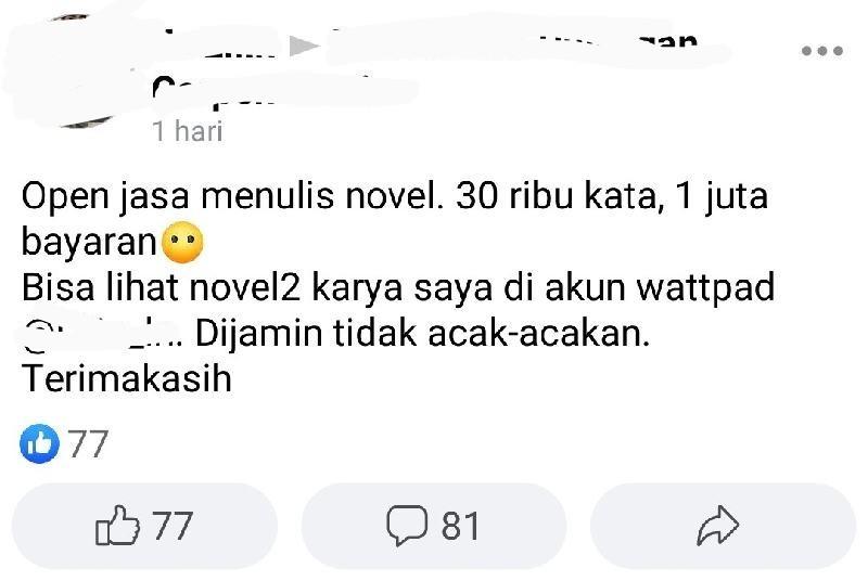 penat jadi penulis