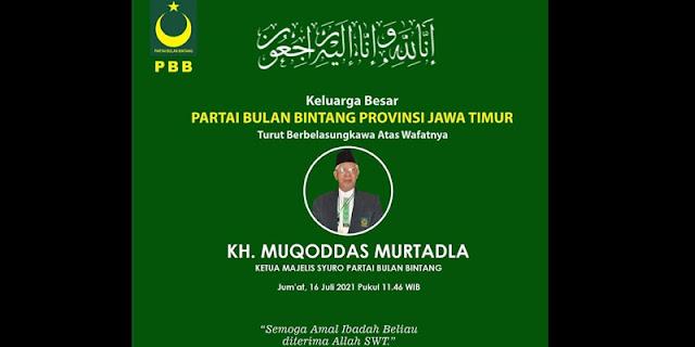 Keluarga Besar PBB Berduka, Ketua Majelis Syuro KH. Muqaddas Murtadla Wafat Setelah Berjuang Melawan Covid-19