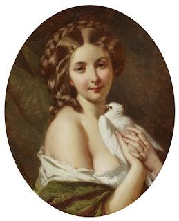 Karl Friedrich Johann von Muller Молодая женщина с голубем