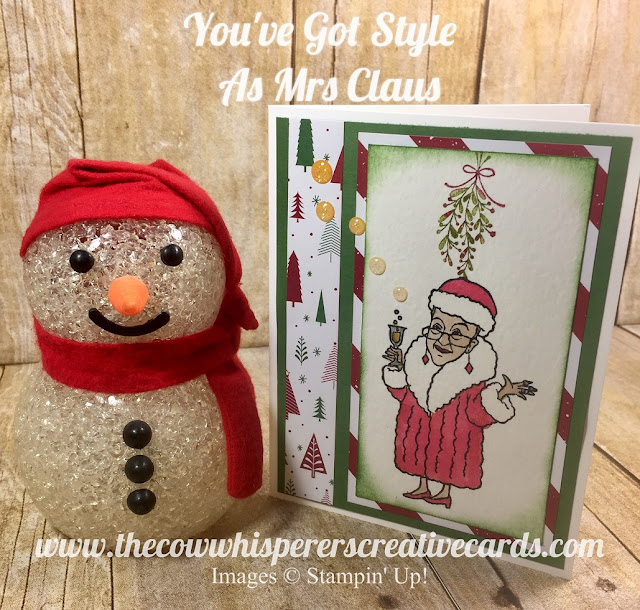 You've Got Style, Merry Mistletoe, Christmas, July, Card, Be Merry, Stampin Up, Fun
