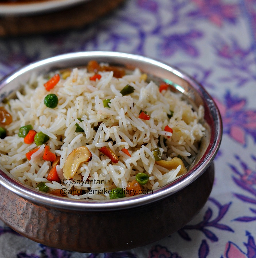 Bengali style fried rice a homemakers diary bengali fried rice ccuart Choice Image