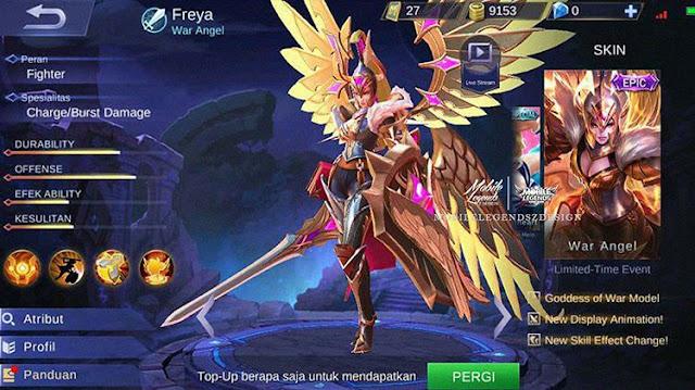 Freya - War Angel (Epic Skin)