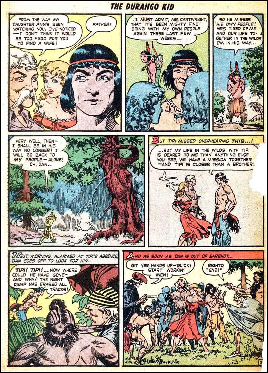 Frank Frazetta 1940s golden age western comic book page / Durango Kid #4