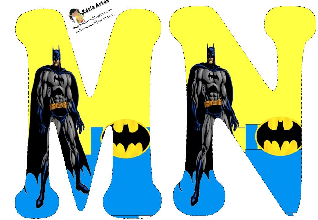 Alfabeto De Batman En Fondo Amarillo Y Azul Oh My Alfabetos