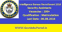 Intelligence Bureau Recruitment 2016