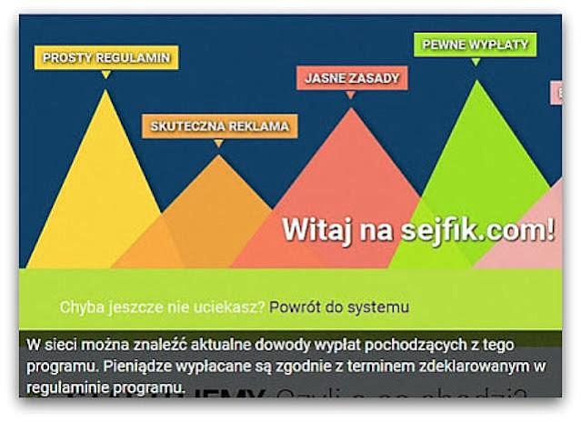 Zarobki w Sejfik (wypłacalne strony, czytanie maili, oglądanie reklam).