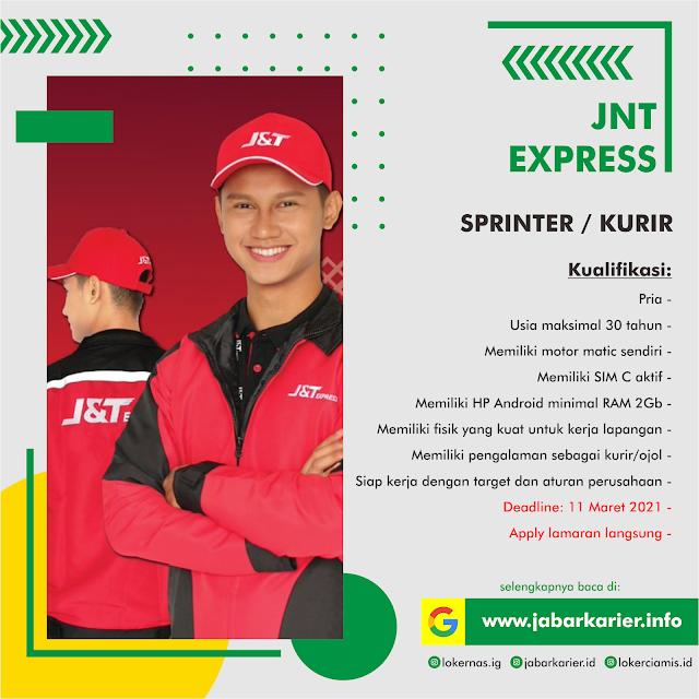 Lowongan Kerja Kurir Sprinter Jnt Express Bandung Terbaru Maret 2021 Lowongan Kerja Terbaru Tahun 2020 Informasi Rekrutmen Cpns Pppk 2020