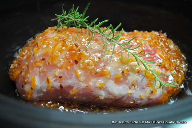 Slow Cooker Spicy Orange Pork Loin at Miz Helen's Country Cottage