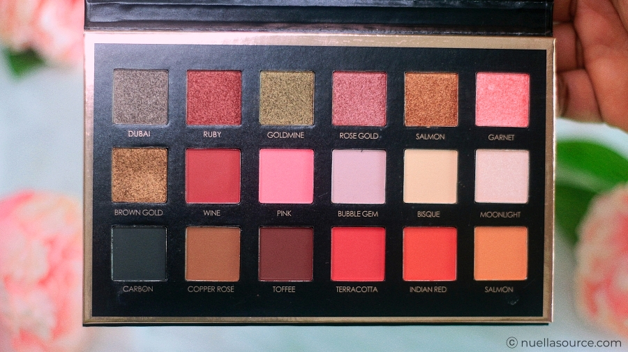 Focallure we care your favors eyeshadow palette bright lux