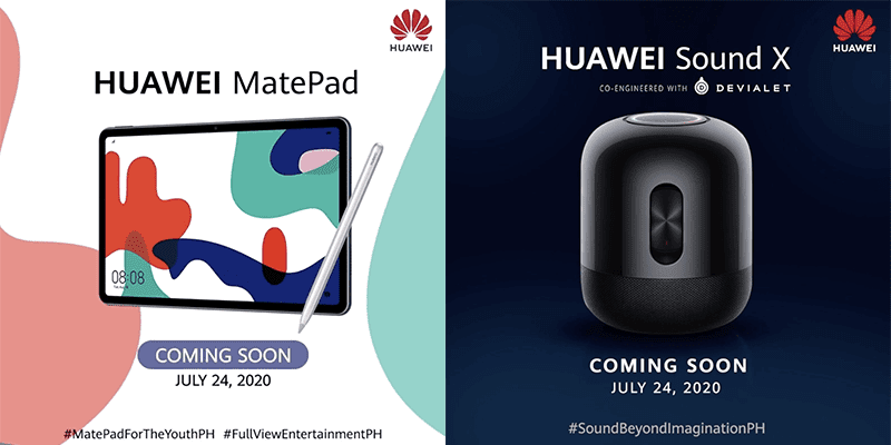 Huawei MatePad and Sound X will go official in the Philippines on July 24