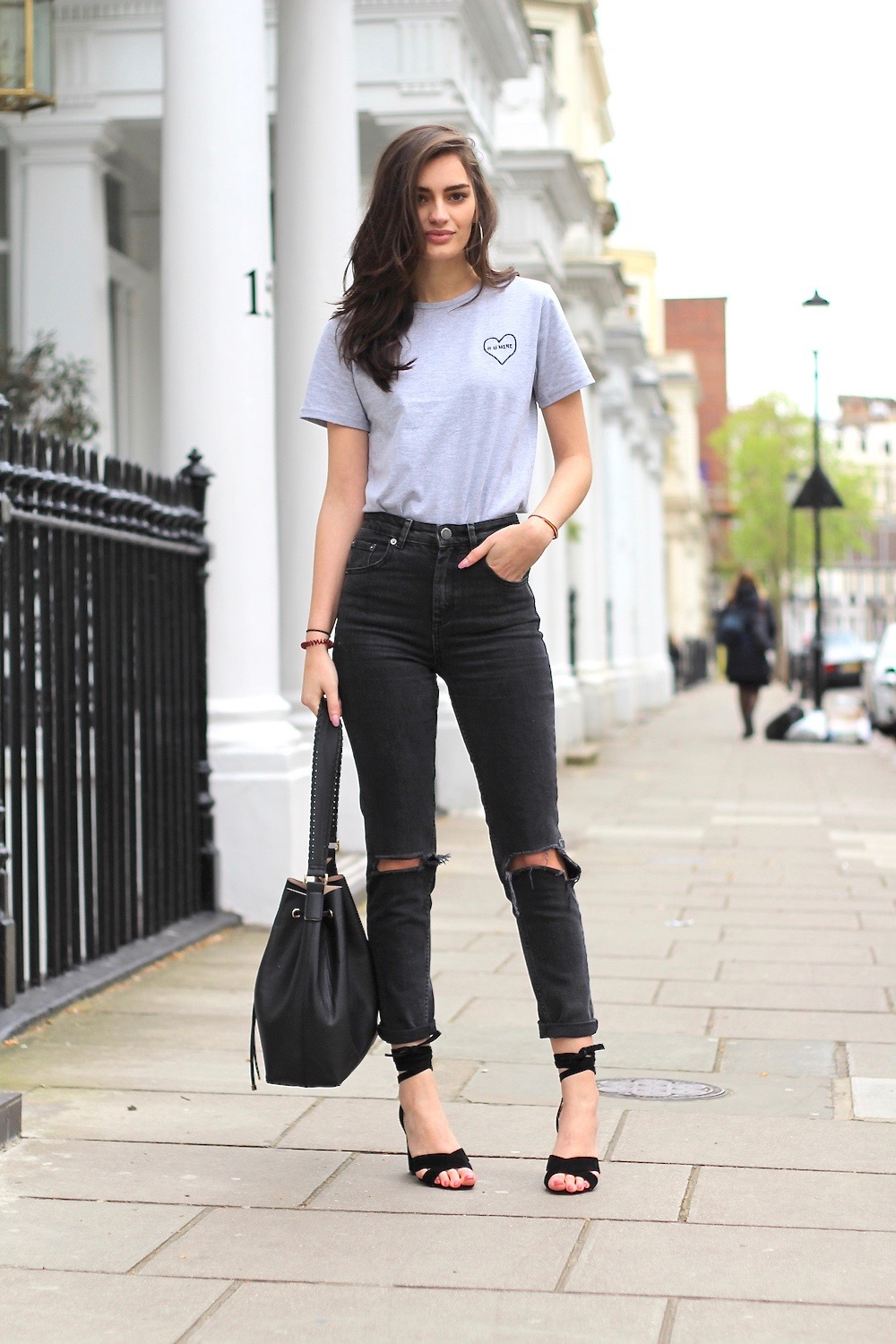 casual jeans and t