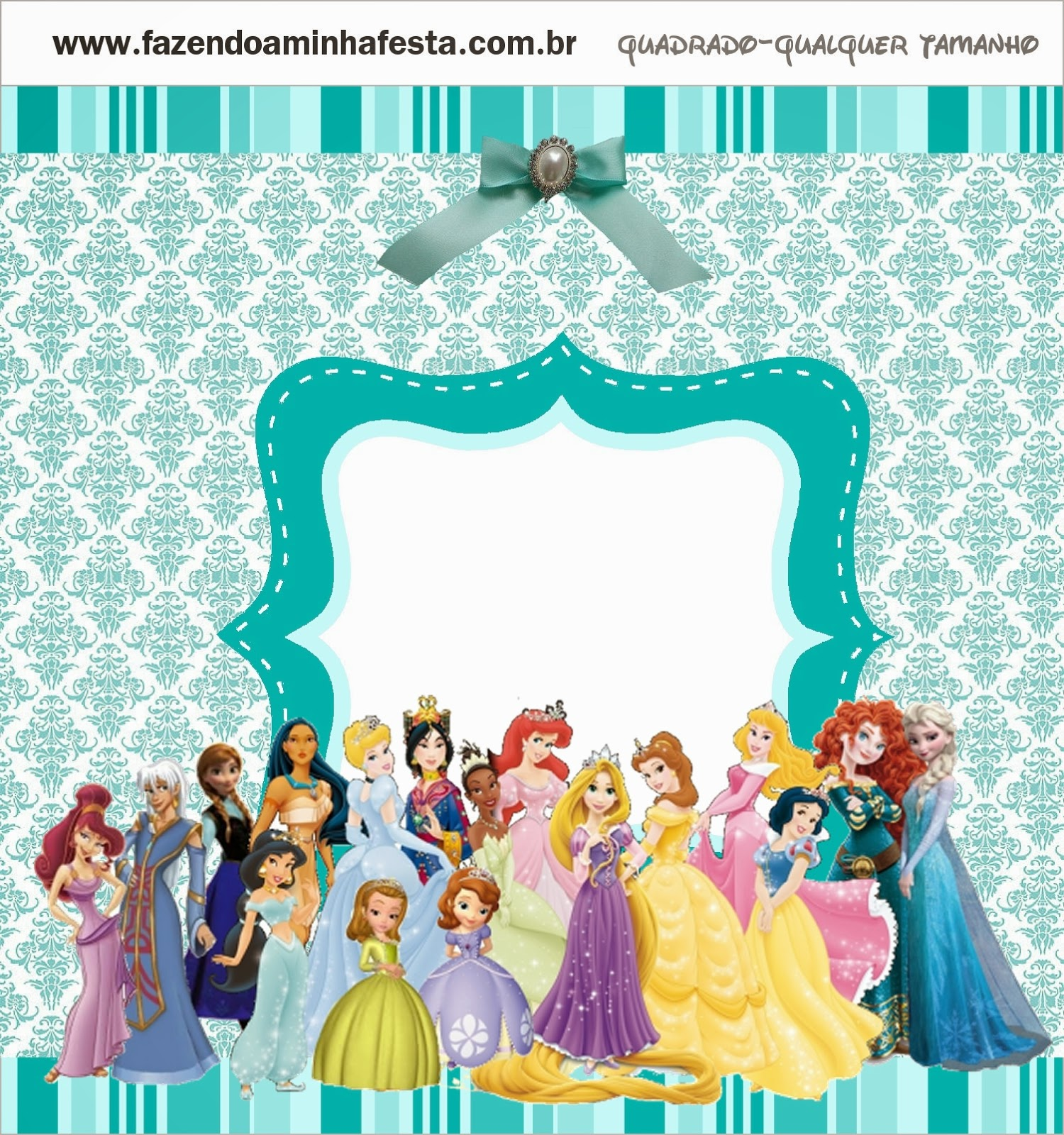 Etiqueta de Todas las Princesas Disney.