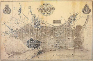 Plan Cerdà de Ensanche de Barcelona (1859)