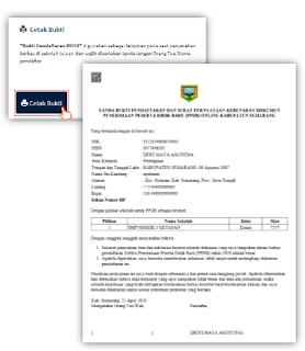 cetak bukti pendaftaran PPDB Online