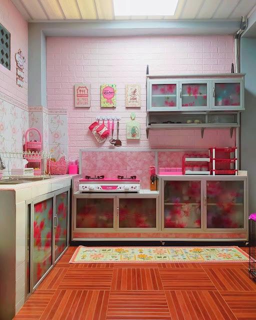 Keramik Dinding Dapur Motif Bunga Terbaru