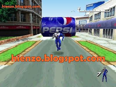Pepsiman PS1 Gameplay