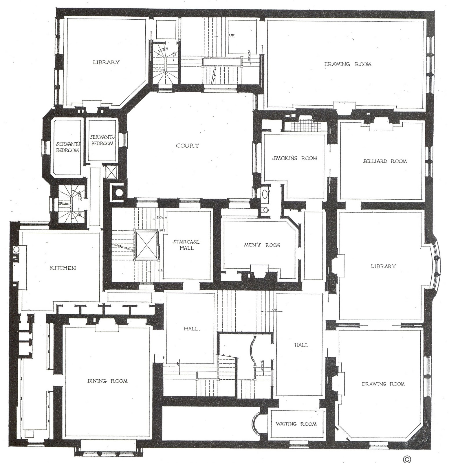 Half pudding half sauce charles l tiffany residence for Colorado style home plans