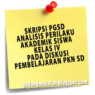 contoh skripsi pgsd