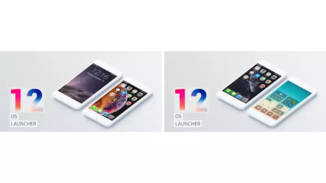 OS Launcher 12 for iPhone X technotearabic.com
