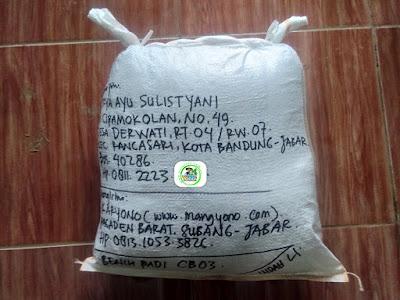 Benih Padi yang dibeli    FITRYA AS Bandung, Jabar.    (Setelah packing karung).