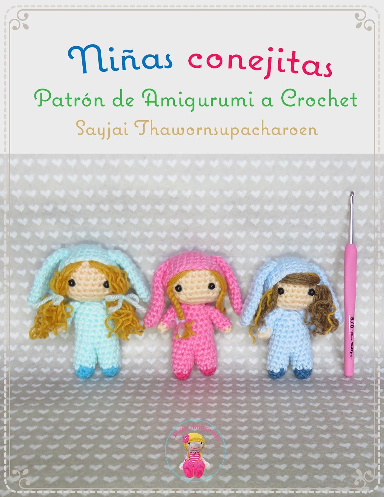 Niñas conejitas, Patrón Gratis de Amigurumi a Crochet - Los patrones ...