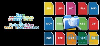 menampilkan format file dan hidden file