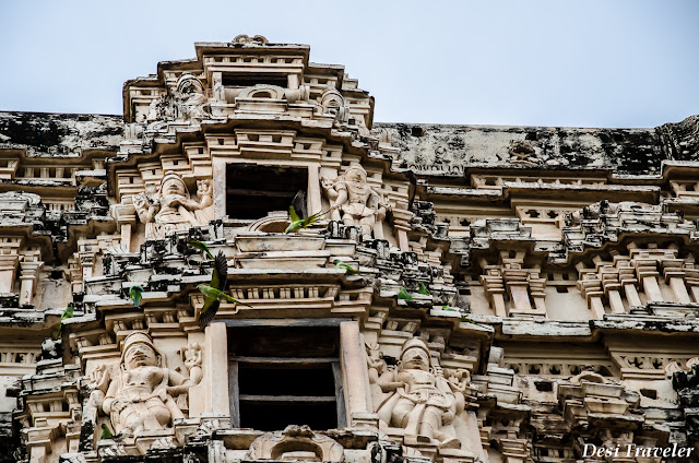 birds have nested in tower of Hampi Temple