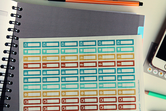 firma huishouden planner stickers