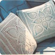 "Cojines ""Dúo Escarcha"" a Crochet"