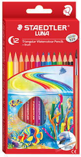Staedtler pensil terbaik untuk anak Luna Triangular coloured dan watercoloured