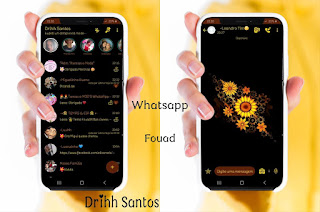 Black Girassol2 Theme For YOWhatsApp & Fouad WhatsApp By Driih Santos