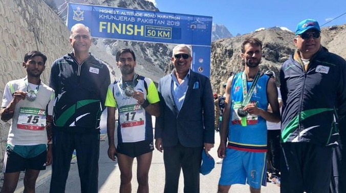 Pakistani athlete Khunjerab ranked a number of high-altitude, all the way