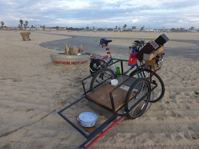 bicycle barbecue with trailer