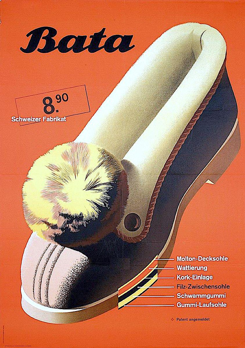 a Hermann Eidenbenz poster for Bata