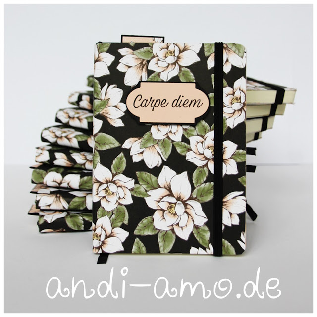 Stampin Up Magnolienweg Carpe Diem Notizbuch
