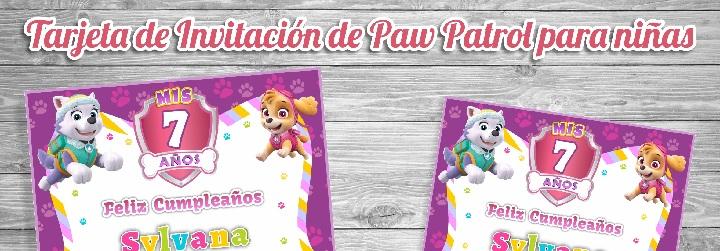 Invitaciones De Paw Patrol Tarjeta De Cumpleanos Gratis