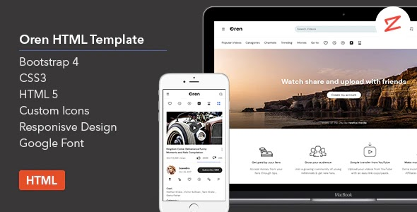 Best Video Sharing HTML Template