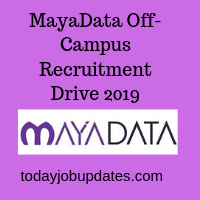 MayaData Off-Campus Recruitment Drive 2019