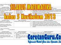 Silabus Matematika Kelas 5 SD/MI Kurikulum 2013 Revisi Semester 1