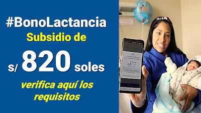 Bono por lactancia, verifica los requisitos para recibir el subsidio de 820 soles #BonoLactancia