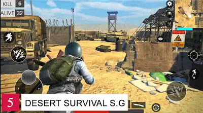 Game Battle Royale Offline Android Desert Survival Shotting Game