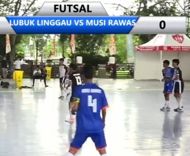 Tim Futsal Lubuklinggau Menang Telak Lawan Tim Futsal Musi Rawas