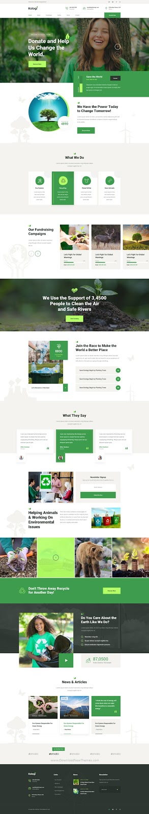 Environment & Ecology Template