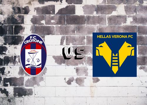 Crotone vs Hellas Verona  Resumen