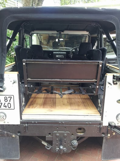 Land Rover Defender 90 Build Up Woden Floor