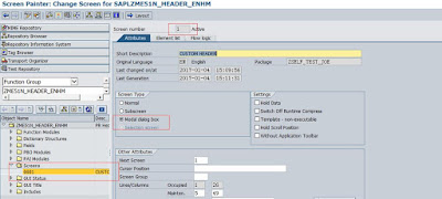 Add a Custom Screen on Purchase Requisition Header By Replacing Standard GUI Status