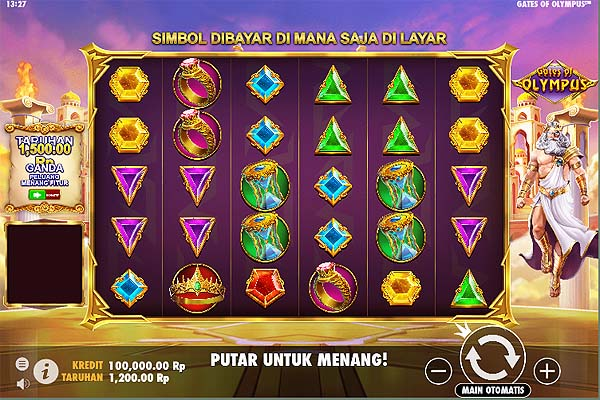 Main Slot Gratis Indonesia - Gates of Olympus (Pragmatic Play)